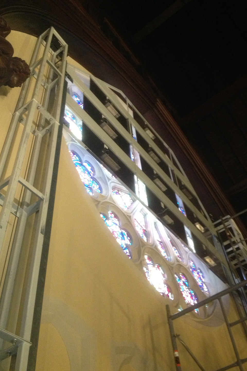 Retractable LED Light Wall